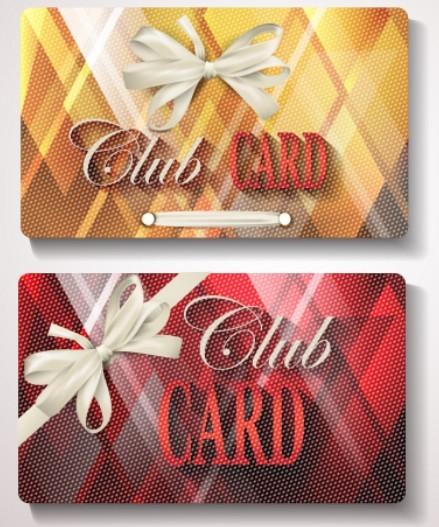 Fashion Club Card Templates Vector