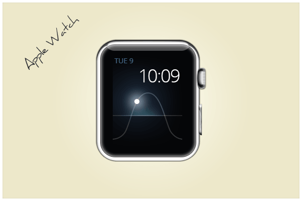 Glossy Apple Watch Icon PSD