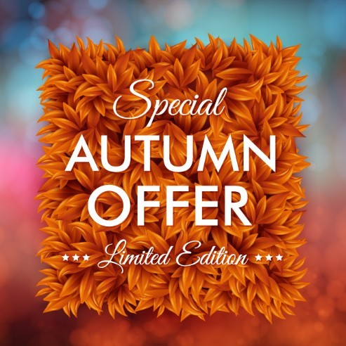 Elegant Special Autumn Offer Background Vector