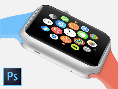 Apple Watch Sport Edition Template PSD