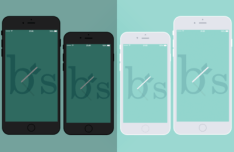 iPhone 6 Plus and iPhone 6 B&W Templates PSD