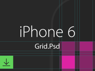 iPhone 6 and iPhone 6 Plus Grid Template PSD