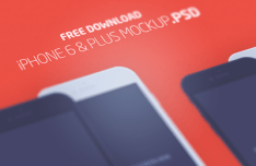 iPhone 6 & Plus Flat Mockup PSD