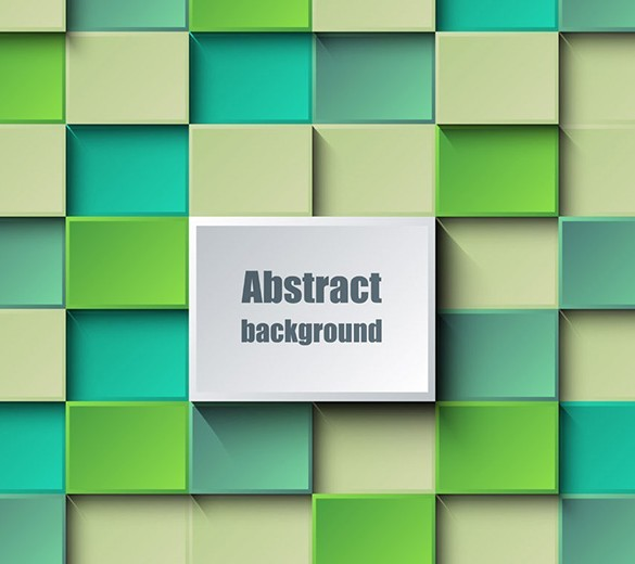 3D Abstract Blocks Background Vector