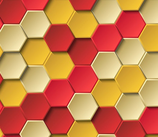 Colorful 3D Hexagon Background Vector