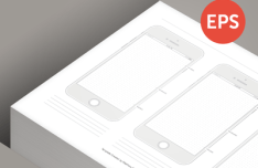 Printable iPhone 6 Template Vector
