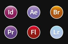 Flat and Round OS X Yosemite Adobe CC Icons