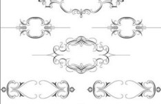 Vintage Ornamental Frame Set Vector 01