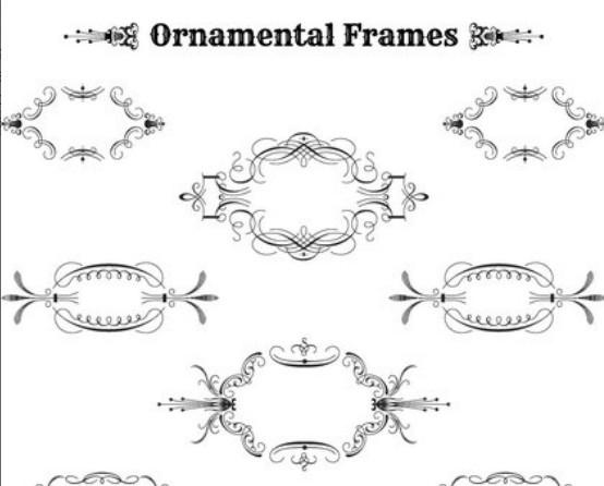 Vintage Ornamental Frame Set Vector 02
