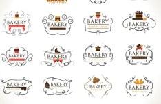 Elegant Bakery Logo Set Vector