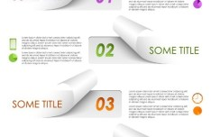 Torn Paper Option Labels Vector