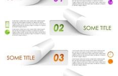 Torn Paper Option Labels Vector
