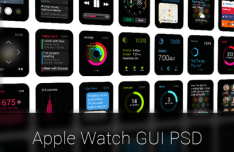 Apple Watch GUI PSD