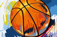 Basketball Street Graffiti Vector