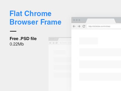 Flat Chrome Browser Frame PSD