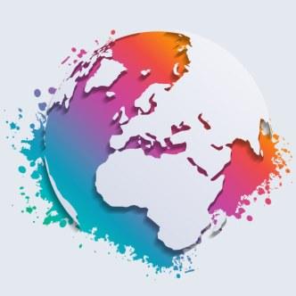 Colorful Splash Earth Vector