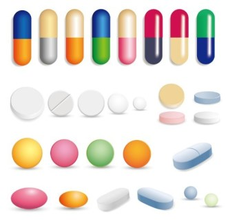 Colorful Capsules & Pills Vector