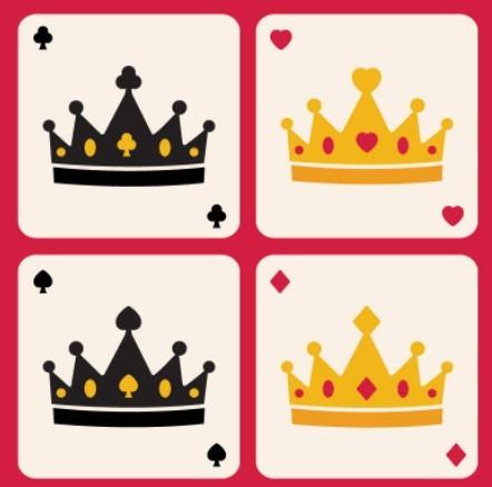 Flat Crown Poker Vector