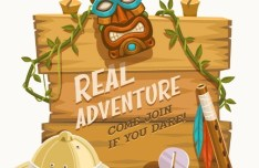 Real Adventure Recruitment Vector Illustration