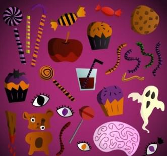 Cartoon Halloween Decoration Vector 01