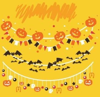 Cartoon Halloween Decoration Vector 03