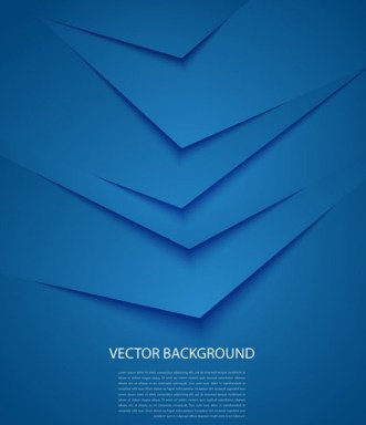Blur Origami Business Background Vector
