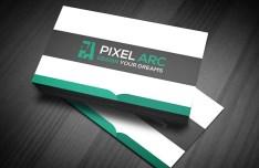Green & Dark Professional Business Card Mockup