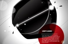 Creative Light Clashes Background Vector