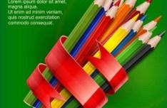 Back To School Colorful Pencils Vector