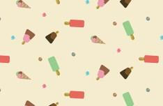 Seamless Ice Cream Pattern Vector