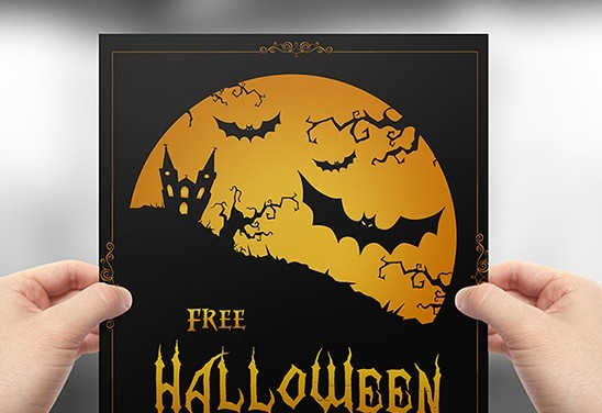 free full layered vector halloween flyer template psd titanui