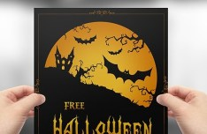 Full layered Vector Halloween Flyer Template PSD