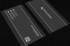 Dark Grey Business Card Mockup PSD