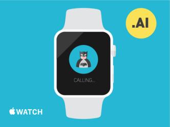 Apple Watch Flat Template Vector