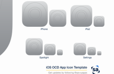 iOS 8 OCD App Icon Template PSD