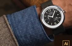 Moto 360 Watchface Vector