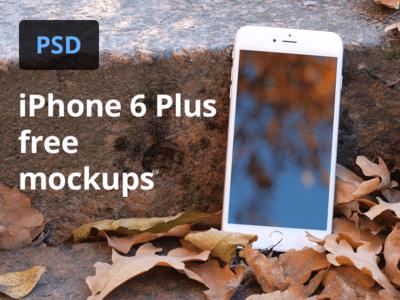 iPhone 6 Plus Photography Mockup PSD