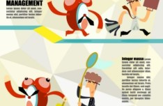 Cartoon Time Management Vector Illustration