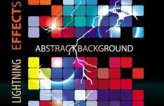 Colorful Abstract Blocks Background Vector 03