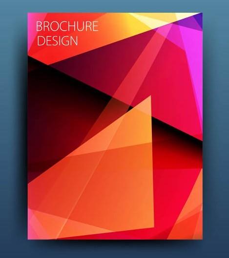 Yellow Polygon Brochure Design Vector