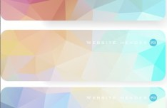 Colorful Polygon Banner Template Set 03