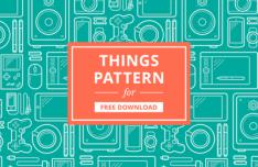 Simple Clean Things Pattern Vector