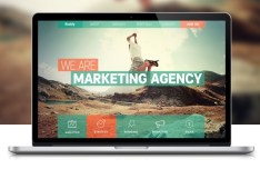 Ruddy Marketing Agency One Page PSD Concept