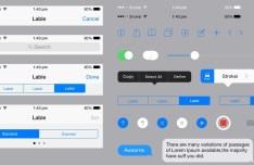 iOS 8 iPhone 6 Plus GUI PSD