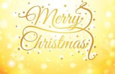 Golden Christmas Vector Background