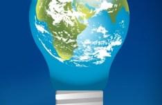 Earth Bulb Vector Illustration