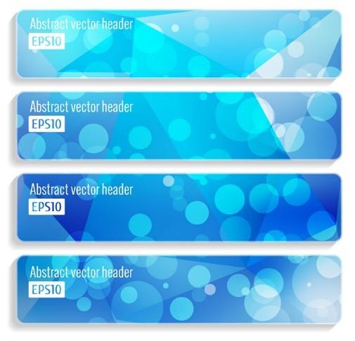 Blue Halos Vector Banner & Header Templates