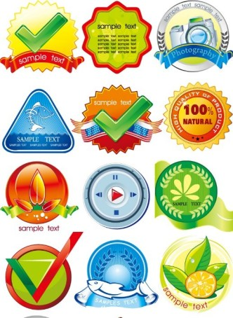 Creative Product Badges Pack Vector