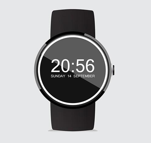 Moto 360 Smartwatch Mockup Vector