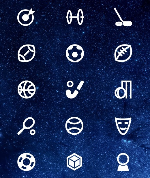 Sports and Art Icons PSD